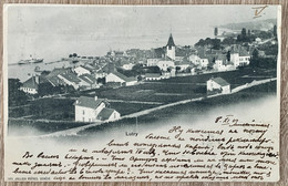 VAUD: LUTRY - VUE DE LUTRY DEPUIS LA GARE 1901 - VD Vaud