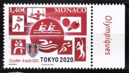 MONACO 2020 - JEUX OLYMPIQUES TOKYO 2020 - NEUF ** - Nuevos