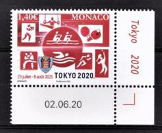 MONACO 2020 - JEUX OLYMPIQUES TOKYO 2020 - NEUF ** - Ongebruikt