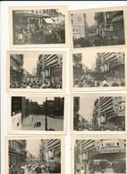 8  PHOTO  10.5 X 7 CM  MANIFESTATION 1950   GREVE GENDARMERIE  POLICE OLDTIMER  VAVALERIE  LIEGE LUIK LUTTICH - Zonder Classificatie