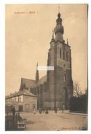 Aarschot - De Kerk, Eglise, Church & People - Old Belgium Postcard - Aarschot