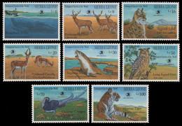 Sierra Leone 1989 - Mi-Nr. 1322-1329 ** - MNH - Wildtiere / Wild Animals - Sierra Leone (1961-...)