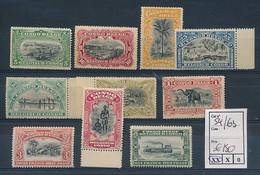 BELGIAN CONGO 1910 ISSUE COB 54/63 MNH - 1894-1923 Mols: Ungebraucht
