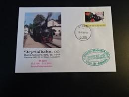 TR1928- Enveloppe Adressed Austria  2004 - Steyrtalbahn - Damfplokreihe 699 Bj. 1944 - Trains
