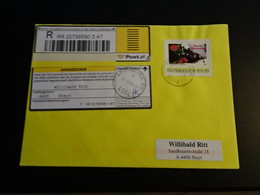TR1997-   Enveloppe Adressed   - Registered - Austria 2004 - Steyrtal - Museumsbahn - Non-normalised Shiopment - Trains