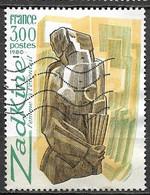 Timbres - France -  1980 - 3,00 - N° 2074 - ZADKINE - Femme à L'éventail - - Non Classés