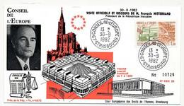 FRANCE - STRASBOURG Conseil De L'Europe 30/9/1982 - Visite Officielle De François Mitterand - Storia Postale