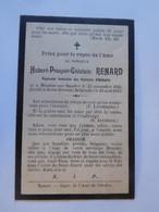 Faire-part Décès Hubert Renard Moustier-sur-Sambre 1856 Saint-Servais 1913 / Régisseur Verreries D'Herbatte - Todesanzeige