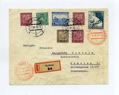 1939 Böhmen + Mähren Guter Vorläufer R- Brief Mit Karpaten Ukraine Nr.1 U.a. Ins Sudetenland - Cartas