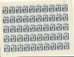"BELGIAN CONGO 1952 ISSUE ""SAINT FRANCOIS XAVIER"" SHEET MNH COB 324 - Full Sheets"