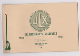 Rare Livret Etablissements LASBORDES A BOISSEZON Tarn 1810 1948 - Other Municipalities