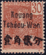 ✔️ Kouang Tchéou Wan 1906 - Grasset Avec Surcharge - Yv. 9 * MH - Ungebraucht