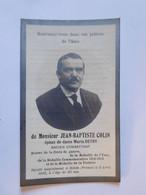 Faire-part Décès Jean-Baptiste Colin Ancien Combattant 1883-1923 (Rehon-France)  IMP Moustier-sur-Sambre - Todesanzeige