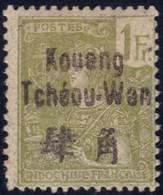 ✔️ Kouang Tchéou Wan 1906 - Grasset Avec Surcharge - Yv. 14 * MH - €40 - Ungebraucht