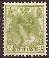 Nederland 1901 NVPH Nr 57 Postfris/MNH Koningin Wilhelmina - Ongebruikt