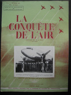 LA CONQUETE DE L'AIR 1951 N°2 -D.C.3 - SEA HAWK-PIPER CUB OO-M.C. G.-350e Escadrille Du 1er Wing -Pub Motos FN Type XIII - Aerei