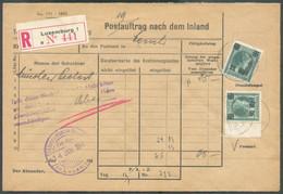 Affranchissement Joseh.-Charlotte) Obl. Dc LUXEMBOURG 14.1.1941 Sur Postauflach Nach Dem Inland (PTT) En Recommandé Vers - 1940-1944 Deutsche Besatzung