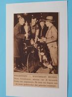 Winterbaan BRUSSEL Denis VERSCHUEREN Trofee / Reus Van ITEGEM / 1925 ( Zie Foto Voor Detail ) KRANTENARTIKEL ! - Ciclismo