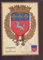 """France, Carte Maximum Du 17 Décembre 1966 à Saint-lo """" Armoiries De Saint-Lo """" - 1960-69"""