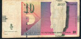 MACEDONIA  P14g  10  DENARI  2007  FINE - Macedonië