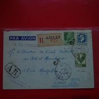 LETTRE ALGER POUR PARIS RECOMMANDE - Covers & Documents