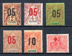 Guyane Guyana Y&T 66* - 68*, 70*, 71*, 74* - Unused Stamps
