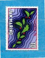 (Riz) San. MARINO ** -1978 - NATALE.  Unif. 1013.  MNH - Unused Stamps