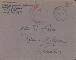 Guerre 39 45 Malade En Traitement Sanatorium SP 58455 Cachet Armée Française Sanatorium Alsace CAD Poste Aux Armées - Guerre De 1939-45
