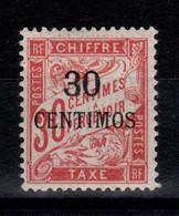 Maroc - Taxe YV 3 N* Cote 36 Euros - Strafport