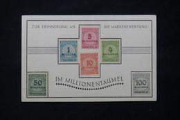 ALLEMAGNE - 6 Valeurs D'Inflation Sur Carte Commémorative Pour Rappeler La Dévaluation Du Mark - L 78525 - Cartas