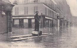 INONDATIONS DE PARIS (JANVIER 1910) RUE DE L4UNIVERSITE ,JOLI PLAN A VOIR !!!!! REF 68608 - Arrondissement: 07