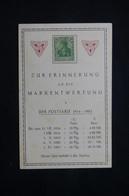 ALLEMAGNE - Type Germania Sur Carte Commémorative Pour Rappeler La Dévaluation Du Mark - L 78528 - Cartas