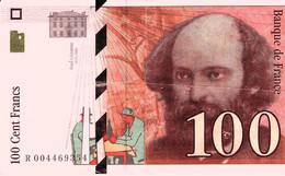 FRANCE – 100 Francs  – 1997 - 100 F 1978-1995 ''Delacroix''