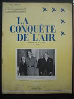 """LA CONQUETE DE L'AIR 1951 N°8 - FOKKER S13 - ANTWERPSE ZWEEFCLUB """"MEEUW"""" - GRUNAU-BABY """"ZONDAGSVRIEND"""" - Pub SHELL - Aerei"""