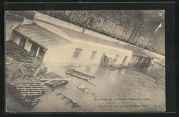 AK Saint-Nicolas, La Crue De La Seine 1910, L'Octroi Du Port, Vue Prise Du Haut Du Pont Des Saints-Péres - Floods