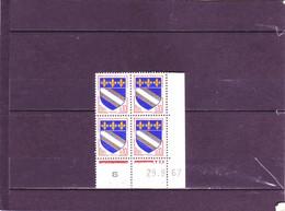 N°1353 -0,10F Blason De TROYES K De K+L - 1° Tirage Du 28.9.67 Au 24.10.67 - 29.09.1967 - - 1960-1969