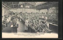 CPA Paris, Compagnie Pour La Fabrication Des Compteurs, 16 Et 18, Boulevard De Vaugirard, Atelier Des Petits Tours - Ohne Zuordnung