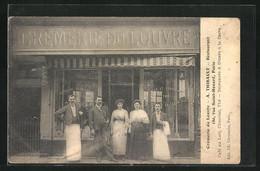 CPA Paris, Crèmerie Du Louvre, A. Thibault, Restaurant, 180, Rue Saint-Honoré - Cafés, Hotels, Restaurants