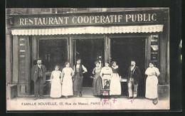 CPA Paris, Restaurant Cooperatif Public, Famille Nouvelle, 15, Rue De Meaux - Cafés, Hotels, Restaurants