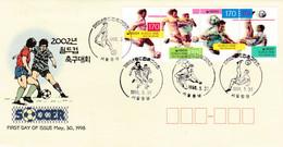 Korea 1998 Football Soccer Fdc - Autres