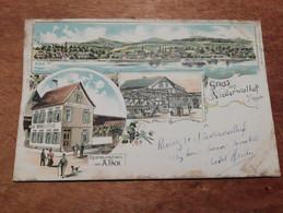 Ancienne Carte Postale - Gruss Aus Niederwalluf - Restauration Von A.Fach - Rud Bechtold & Cie Weisbaden - Vari
