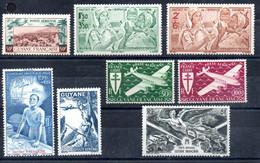 Guyane Guyana Luftpost Y&T PA 21** - PA 28** - Unused Stamps