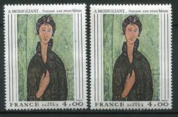 20151 FRANCE N°2110b**(Cérés) 4F Modigliani : Trait Vert Le Long Du Visage + Normal (non Fourni)  1980  TB - Varieteiten: 1980-89 Postfris