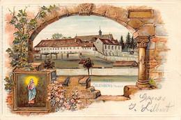 Reiningue - Abbaye Oelenberg - Litho - Relief - Ed. St.-Antonius-Buchhandlung (Adolf Steiner) - Otros Municipios