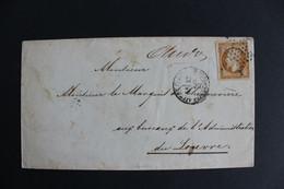 1860,LSC NO Y&T 13A   OBLITERATION ETOILE PLEINE + CAD AFFnt PARIS Pour PARIS, TIMBRE MARGE... - 1849-1876: Periodo Classico