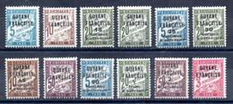 Guyane Guyana Porto Y&T T 1* - T 12* - Unused Stamps