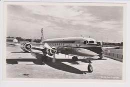 Vintage Rppc KLM London - Christchurch Race Douglas Dc-6A PH-TGA Aircraft @ Schiphol Airport - 1919-1938: Between Wars
