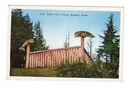 WRANGELL, Alaska, USA, Shake's Grave Totems, Old Linen Postcard - Other