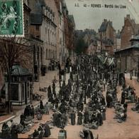 35 / RENNES / MARCHE DES LICES / TRES JOLIE CARTE PAPIER GLACE - Rennes