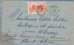 A.O.F. - AIR MAIL ABIDJAN -> FRANCE 1949  //ak283 - Lettres & Documents
